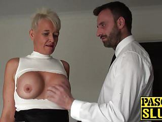 Sadomasochism and servitude training for a sexually excited milf wench in heat